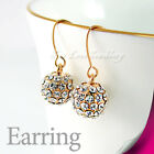 18K WGP / GP Ball Earring Use Swarovski Crystal 21462147 Free Gift Pouch
