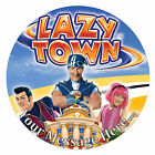 Lazy Town Personalised Edible Rice/Icing Cake Topper 7.5 inch Circle