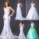 IN Stock Women Wedding Dress Bridal Gown Bridesmaid Formal Dress Pageant gown