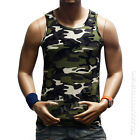 Men's Tank Top Sleeveless T-Shirt Muscle Camouflage Tee A-Shirt GYM Bodybuilding