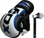 Auth RDX Leather Gel MMA UFC Grappling Gloves Kick Boxing Punch Bag Muay Thai U