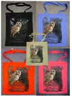 Owl Wilderness Design No 18282 Printed Shopping Tote Bag Various Colours