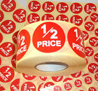 1/2 Price Promotional Point Of Sale Retail Stickers Sticky Tags Labels POS