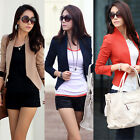 Fashion Women Lady Career Slim Fit Short Blazer Casual Suit Jacket Coat S M L XL