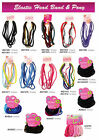 Elastic Head Bands 8mm and Matching Ponies (Available in all different colors)**