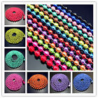 Free 27.5Inch beaded ball chains Party Findings necklaces 70cm Multicolor choose