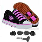 Heelys Jazzy Junior Girls Heely Wheel Roller Shoe - Black/Pink Size J11+