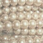 Pale Gold 4mm 6mm 8mm 10mm Glass Pearl Beads - choice by size