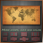 Vintage Map of World Time Zone Abstract Canvas Wall Art Deco ~ More Size & Color
