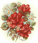 Ceramic Decals Red Roses White Floral Flowers image