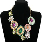 2013 New Fashion Crystal Retro Flower Collage Cluster Chain Necklace XL1122