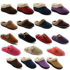 New Ladies Coolers Slip On Furry Trim Fleecy Lined Slippers Mules Sizes UK 3-8