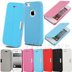 MAGNETIC LEATHER FLIP FOLIO CASE COVER FOR IPHONE 4G 4S / 5G 5S FREE SCREEN FILM