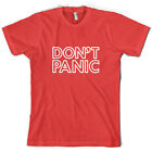 Don't Panic - Mens T-Shirt - Hitchhiker - 10 Colours - Free UK Delivery