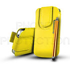 Button PU Leather Pull Tab Pouch Case Cover & Pen For Various Sony Xperia Phones