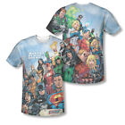 DC JLA Justice League Of America Team Group Sublimation ALL OVER Vintage T-shirt