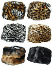 RARE Russian Ushanka Cossack Faux Fur Leopard Fox Tiger Plain Hat Cap