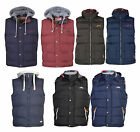 Mens Tokyo Laundry Quilted Padded Hooded Gilet Gillet Coat Jacket Bodywarmer