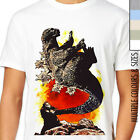 GODZILLA VS KING KONG T-Shirt. Cult Movie Film, Retro Vintage Monster Art Print
