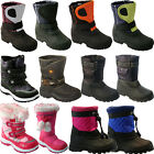 ** KIDS FUR SNOW MOON MUCKER WATERPROOF WELLINGTONS BOYS BOOTS THERMAL BOYS GIRL