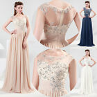 Chram Long Chiffon Evening Formal Party Ball Gown Prom Bridesmaid Wedding dress