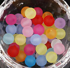 1000pcs Mixed Color Round Frosted Acrylic Glass Spacer Beads 8mm Beads making