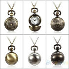 METAL BALL STEAMPUNK QUARTZ NECKLACE PENDANT CHAIN SMALL POCKET WATCH RETRO BD4K