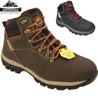 MENS GROUNDWORK SAFETY STEEL TOE CAP WORK SHOES TRAINER BOOTS LEATHER ANKLE SIZE