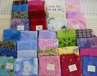 Flannel fat quarters 4 unique fun prints total 1 yd 100% cotton fabric FREE SHIP