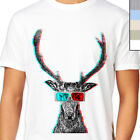 3D STAG HEAD TSHIRT T-Shirt. Trippy LSD Animal,  Rare Design Unique Indy Artwork
