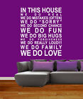 In This House We Do Love Rules Art Sticker Mural Giant Vinyl Wall Quote Decal