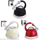 3 LITRE STAINLESS STEEL WHISTLING KETTLE GAS & ELECTRIC HOBS 3L FAST BOIL NEW