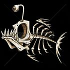 Cool Tshirt Bonefish Skeleton Dead Bite Water Fishing Catch Deep Sea Bones Sport