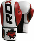 Auth RDX Leather Gel Boxing Gloves Fight,Punch Bag MMA Muay Thai Grappling Pad T