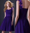 Black/Purple/Champagne Elegant Bridesmaid Prom Ball Evening Cocktail Dress 8Size