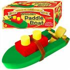 Wind Up RUBBER BAND POWER PADDLE BOAT Wood Wooden Retro water/bath tub/pool toy