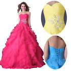 Sweetheart Organza Prom Party Ball Gowns Wedding Evening Formal Homecoming Dress