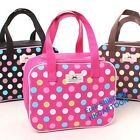 Lovely Colored Dots Canvas Shopping Bag Lunch Bag Reusable Bag