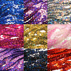 10m x 6mm Strung Holographic Hologram Metallic Flat Sequins String - 15 colours