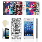 28 Styles case cover for apple iphone 4G 4 4S 5 5G with free screen protector