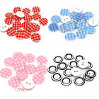 100pcs Mix Pattern Flat Back Wooden DIY Craft Buttons For Sewing Scrapbook 10MM