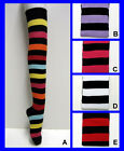 NEW - Cotton Blend - Ladies OVER KNEE THIGH HIGH LONG STRIPE / STRIPED SOCKS -
