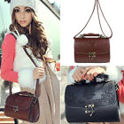 Fashion Vintage Women PU Leather Handbags Satchel Shoulder Elegant tote Bag