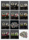 10-color Tibet Silver Crystal Rhinestone Spacer Beads Fit Charm Bracelet