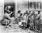1930 NEGRO BLACK CHILDREN GREAT DEPRESSION RED CROSS HINE PHOTO
