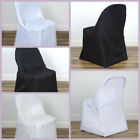 50 FOLDING Round Polyester Fabric CHAIR COVERS Wedding Party Wholesale Supplies