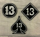 NO.13 CIRCLE BIKER TRIKER PATCH SEW ON