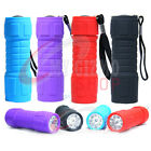 9 LED SURPER BRIGHT TORCH + BATTERIES MINI TORCH CAMPING FLASHLIGHT 4 COLOR