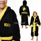 KIDS BOYS ROCKY BALBOA FLEECE BATHROBE CLASSIC THICK SOFT DRESSING GOWN BOXING