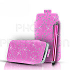 BLING PU LEATHER PULL TAB CASE COVER POU...